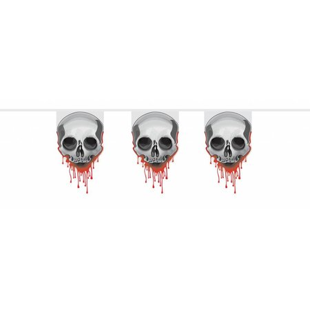 Vlaggenlijn Halloween Doodskop bloed 6 m