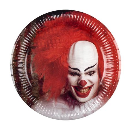 Set 6 Bordjes Horror IT Clown (23 cm)