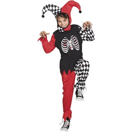 Horror Harlequin kostuum kind