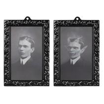 Holografisch fotolijstje Horror portret man 28 x 22 cm