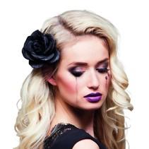 Haaraccessoire Zwarte roos