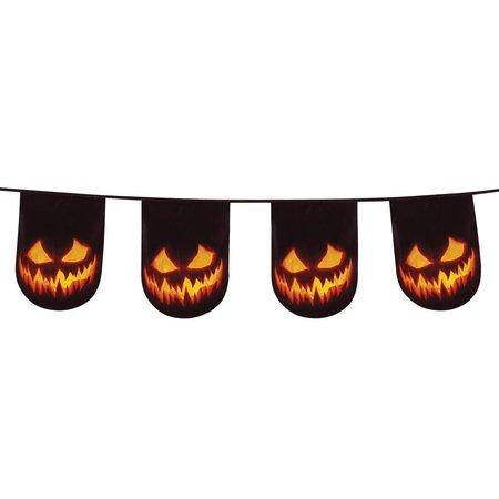 Vlaggenlijn Creepy Pumpkin dubbelzijdig (6 m)