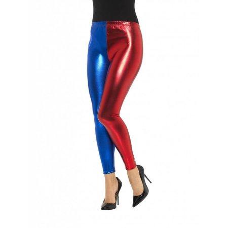 Harlequin cosplay legging metallic
