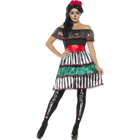 Mexicaans Dag Van De Doden Kostuum vrouw