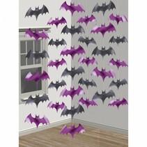 6 stringen decoratie vleermuizen