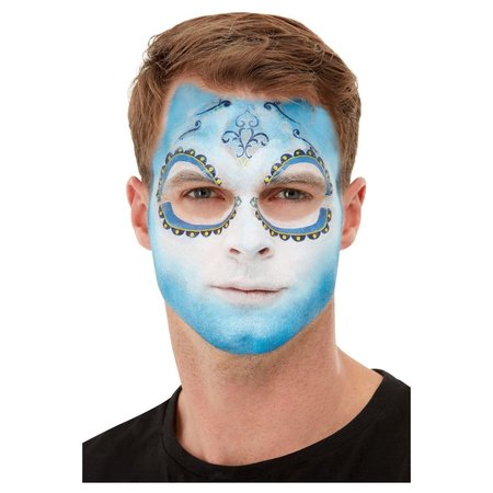 Make-up set Day of the Dead blauw wit