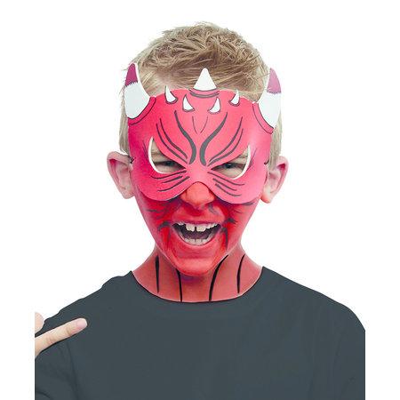 Duivel masker en make-up set