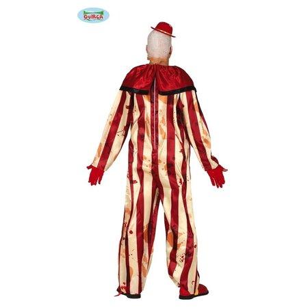 Gestreepte Killer Clown Jumpsuit