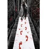 Bloederige Loper voetstappen Halloween