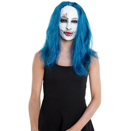 Masker Horror Vrouw met blauw haar