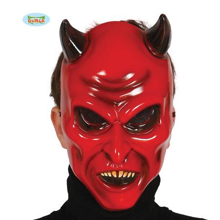 Duivelsmasker Plastic Rood