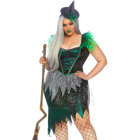 Ondeugende Heks Sterren Vrouw Kostuum Plus Size