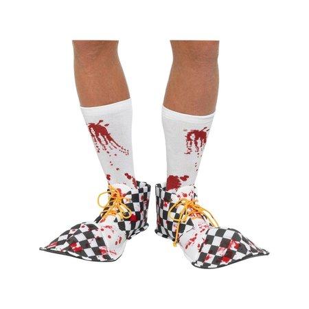 Horror Clown Schoencovers Zwart/Wit