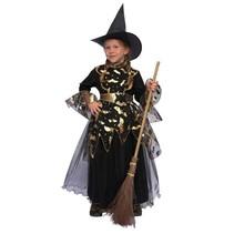 Heksen jurkje zwart/goud
