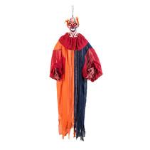 Hangdecoratie Paniek clown 165cm met licht