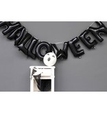 Folieballonnen Letter Halloween Zwart