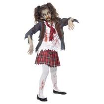 Zombie Schoolmeisje Kostuum Kind