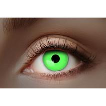 UV Flash Groene kleurlenzen 1 Maand