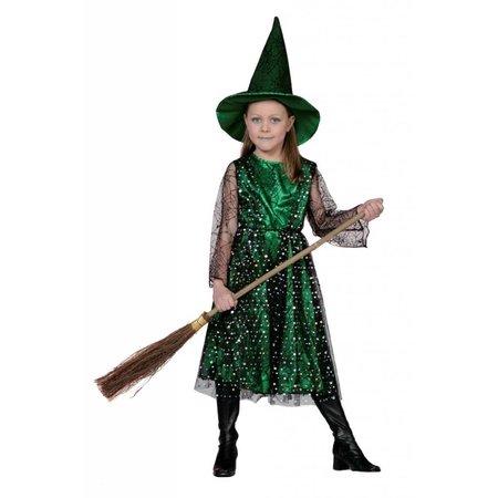 Heks met hoed groen