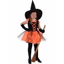 Heksje Halloween zwart/oranje