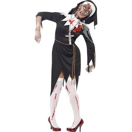 Zombie nonnen kostuum