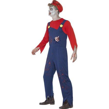 Zombie Loodgieter Mario kostuum
