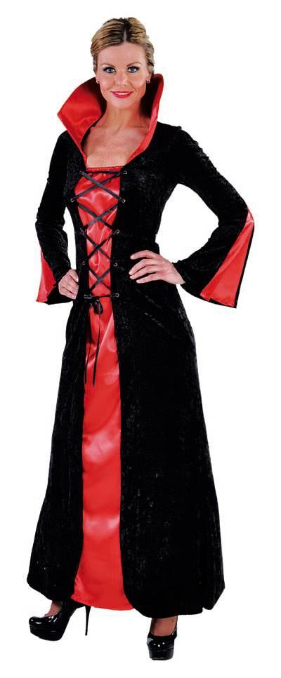 Rood Met Zwart Jurkje.Vampier Dame Jurk Rood Zwart Halloweenkleding Net