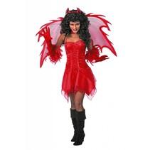 Duivel jurkje rood