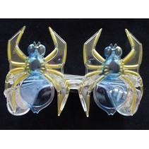 Funbril verlichting spin blauw