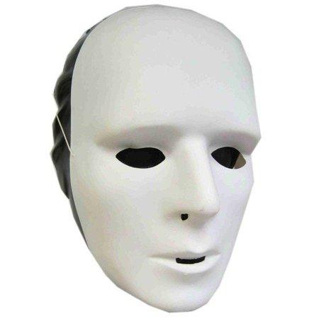 Grimeermasker wit plastic