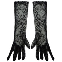 Nethandschoen Heks spinnenweb zwart