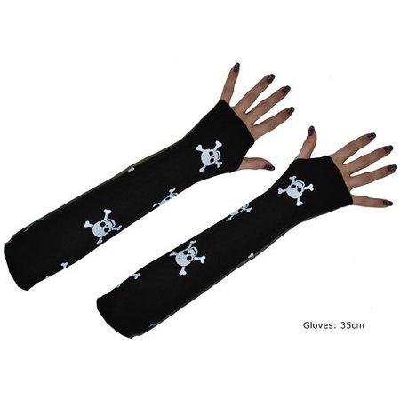 Handschoenen Doodskop Zonder Vingers