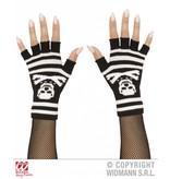 Vingerloze skelet handschoenen