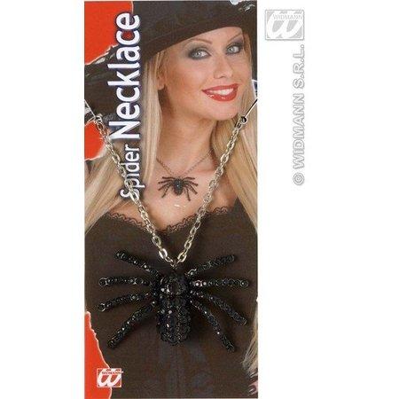 Zwarte ketting met spin