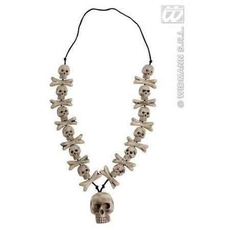 Halsketting schedel en botten