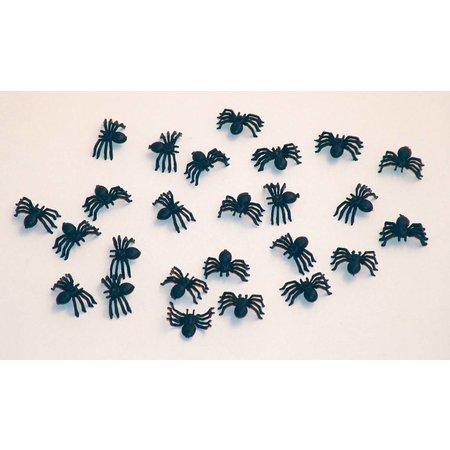 Tafeldecoratie spinnen 2cm, 25 stuks