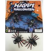 Spinnen met gele stippen - 4 op kaart