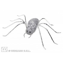 Glitter spin zilver 14,5cm