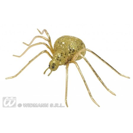 Glitter spin goud 6,5cm