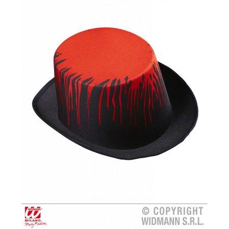 Hoge hoed zwart met bloed