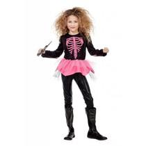 Skelet meisje verkleedjurk