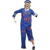 Zombie piloten kostuum man