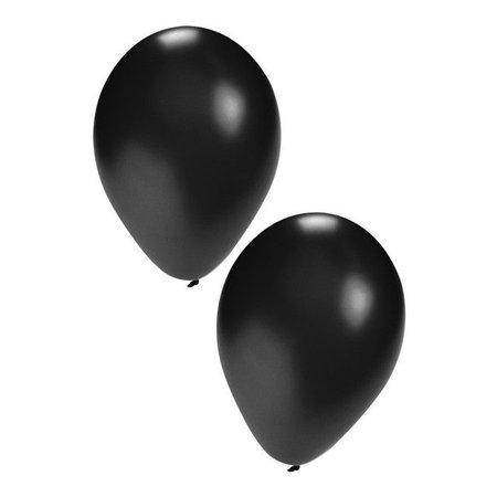 Ballonnen zwart 50 stuks