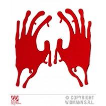 Raamsticker bloederinge handen