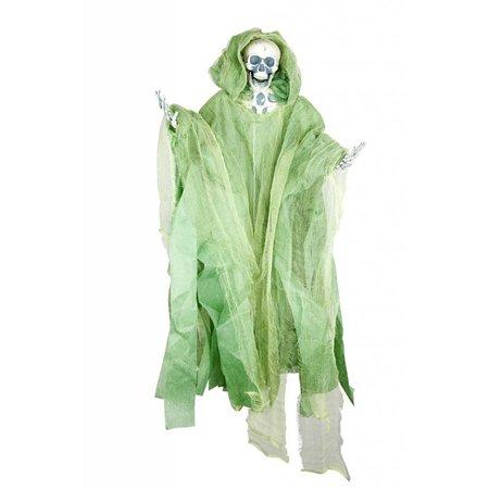 Hangend skelet groen