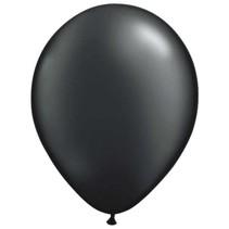 Zwarte metallic ballonnen 30cm 10 stuks