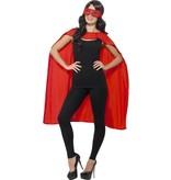 Superhero cape met masker rood