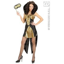 Gothische koninging kostuum goud