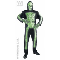 Geraamtekostuum kind 3D Neon groen