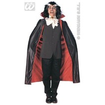 Luxe cape met kraag 135 cm
